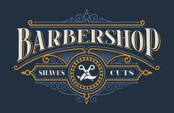 Rocznika literowanie dla zakładu fryzjerskiego ilustracji