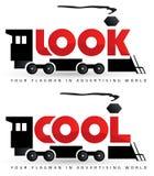 Rocznika loga lokomotoryczny szablon Zdjęcia Royalty Free