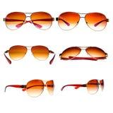 Rocznika lotnika okulary przeciwsłoneczne odizolowywający na biel Fotografia Royalty Free