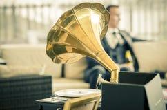 Rocznika ślubny gramaphone Obraz Stock