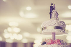 Rocznika Ślubny tort Zdjęcia Stock