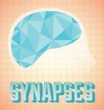 Rocznika mózg Synapses Fotografia Royalty Free