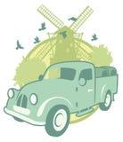 Rocznika majcher z furgonetką Obraz Stock