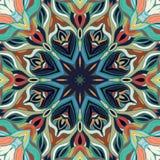 Rocznika mandala bezszwowy deseniowy ornament Obrazy Stock
