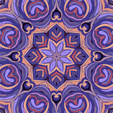 Rocznika mandala bezszwowy deseniowy ornament Zdjęcia Royalty Free