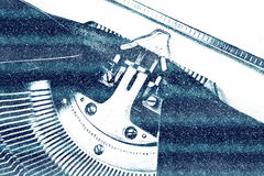 Rocznika maszyna do pisania dla bożych narodzeń Zdjęcie Stock