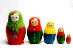 Rocznika Matryoshka lala 4 Zdjęcia Stock