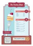Rocznika menu Zdjęcia Royalty Free