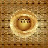 Rocznika menu pokrywy złoto 5 ilustracja wektor