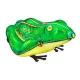 Rocznika metalu żaba odizolowywająca na bielu Zdjęcie Royalty Free