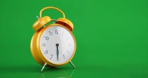 Rocznika metalu budzika czasu upływu kopii przestrzeni zieleni tło ilustracji