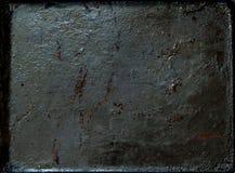Rocznika metalu ośniedziały tło, karmowy pojęcie, kopii przestrzeń, zbliżenie, zdjęcie stock
