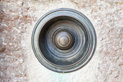 Rocznika metalu round ciągnienia drzwiowy dzwon Obraz Stock