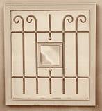 Rocznika metalu sztuki ornamentaci okno sepiowy filtrujący wizerunek Zdjęcie Royalty Free