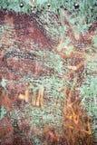 Rocznika metalu zielony prześcieradło zdjęcia stock