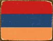 Rocznika metalu znak - Armenia flaga Obrazy Royalty Free