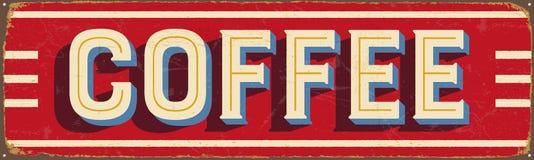 Rocznika metalu znak - kawa ilustracji