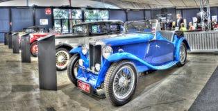 Rocznika MG sportów Brytyjski budujący samochód Zdjęcia Stock