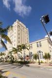 Rocznika Miami plaży urząd miasta w art deco stylu Zdjęcia Royalty Free