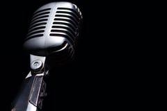 Rocznika mikrofon Fotografia Stock