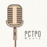 Rocznika mikrofon dla muzyki Zdjęcie Stock
