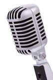 Rocznika mikrofon odizolowywający na bielu Fotografia Royalty Free
