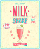 Rocznika MilkShake plakat. Obraz Royalty Free