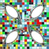 Rocznika modnisia mozaiki tła Geometryczny Deseniowy wektor Zdjęcie Royalty Free