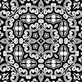 Rocznika monochromatyczny ornament Zdjęcie Royalty Free