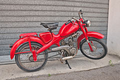 Rocznika moped Włoscy 48 Motom czterosuwowy silnik Obraz Stock