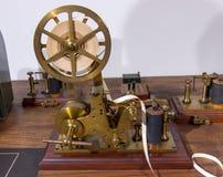 Rocznika Morse telegrafu maszyna Zdjęcia Stock