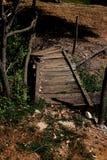 Rocznika most na zaniechanym rancho Fotografia Stock