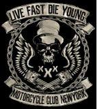 Rocznika motocykl Ręka rysująca grunge rocznika ilustracja z