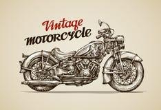 Rocznika motocykl Ręka rysujący motocykl Zdjęcie Stock