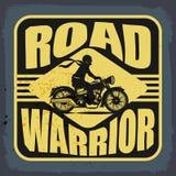 Rocznika motocyklu etykietka ilustracja wektor