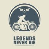 Rocznika motocyklu etykietka Obrazy Royalty Free