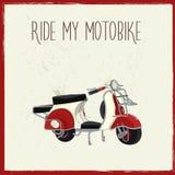 Rocznika motocyklu plakat Obraz Royalty Free