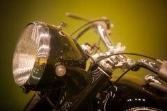 Rocznika motocyklu reflektor fotografia royalty free