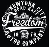 Rocznika motocyklu wektorowego trójnika ręka rysujący graficzny projekt Zdjęcie Royalty Free