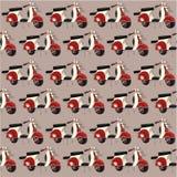 Rocznika motocyklu wzór Obraz Royalty Free