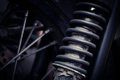 Rocznika motocyklu zawieszenie zdjęcia stock