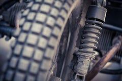Rocznika motocyklu zawieszenie Zdjęcie Stock