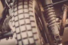 Rocznika motocyklu zawieszenie fotografia stock