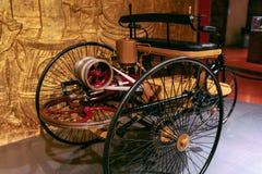 Rocznika motorowy trójkołowiec Obrazy Royalty Free