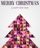 Rocznika mozaiki Bożych Narodzeń sosna Zdjęcia Stock
