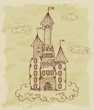 Rocznika nakreślenie kasztel royalty ilustracja