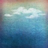 Rocznika nieba chmura textured tło ilustracja wektor