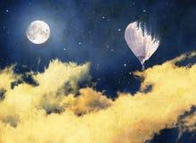Rocznika nocnego nieba tła balon Fotografia Royalty Free