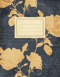 Rocznika notatnika czarna kwiecista pokrywa Zdjęcia Stock