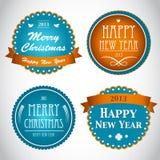 Rocznika Nowego Roku i Bożych Narodzeń tło, Ilustracja Wektor